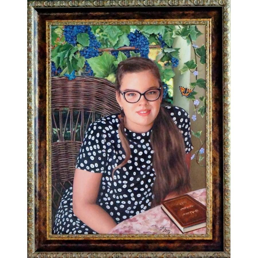 Портрет девушки маслом 53