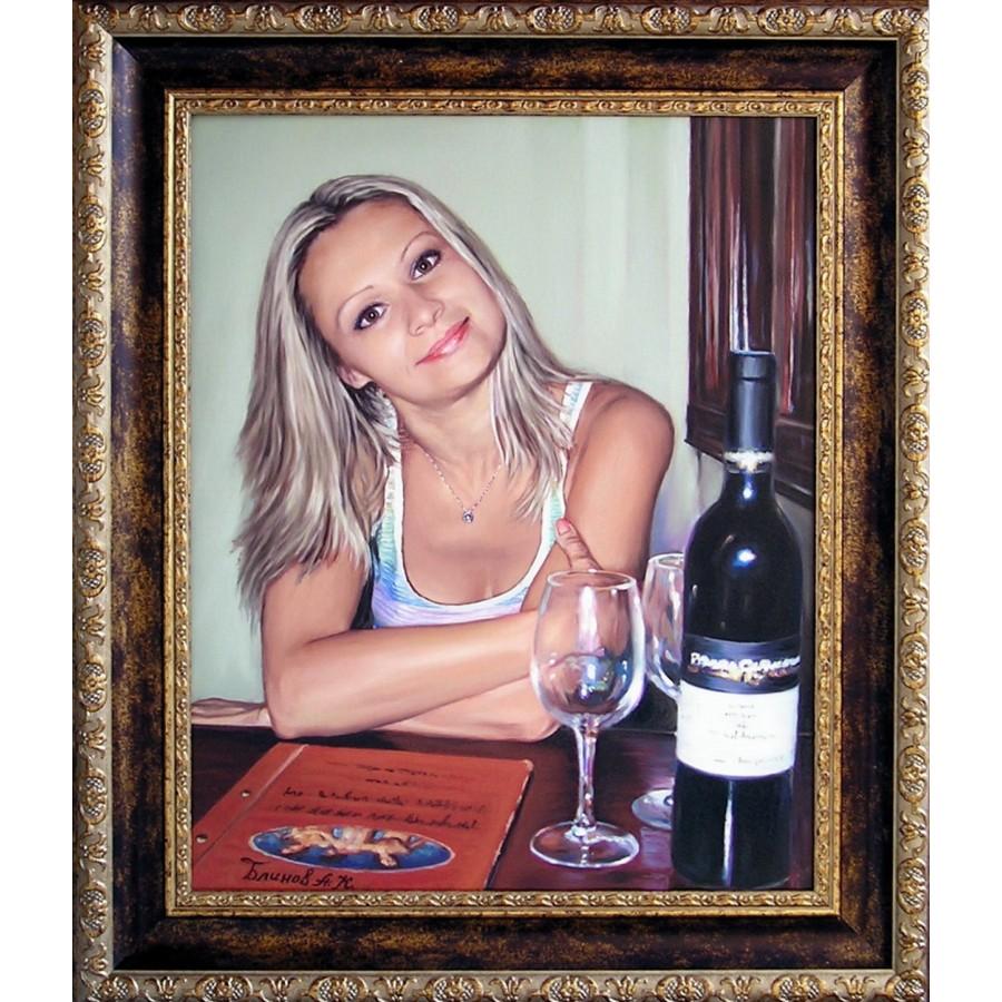 Портрет девушки маслом 34