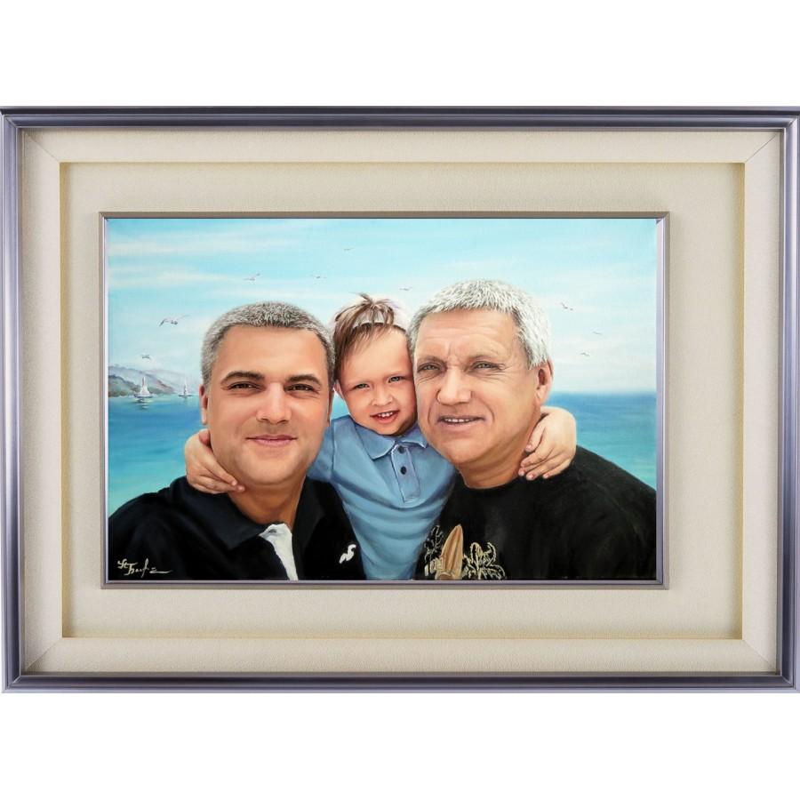 Портрет отца сына и внука. 74