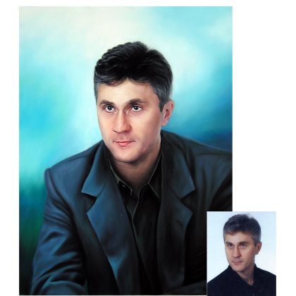 Мужской портрет маслом