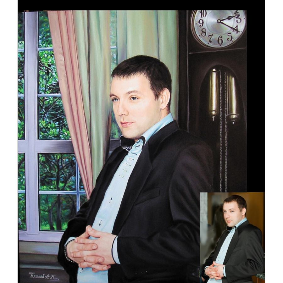 Портрет мужчины маслом 24