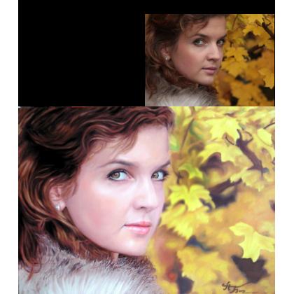 Портрет девушки маслом 29