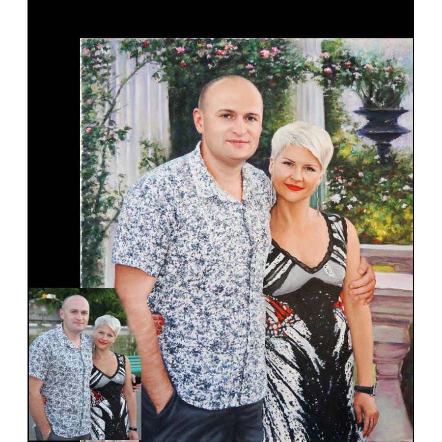 Семейный портрет маслом 31