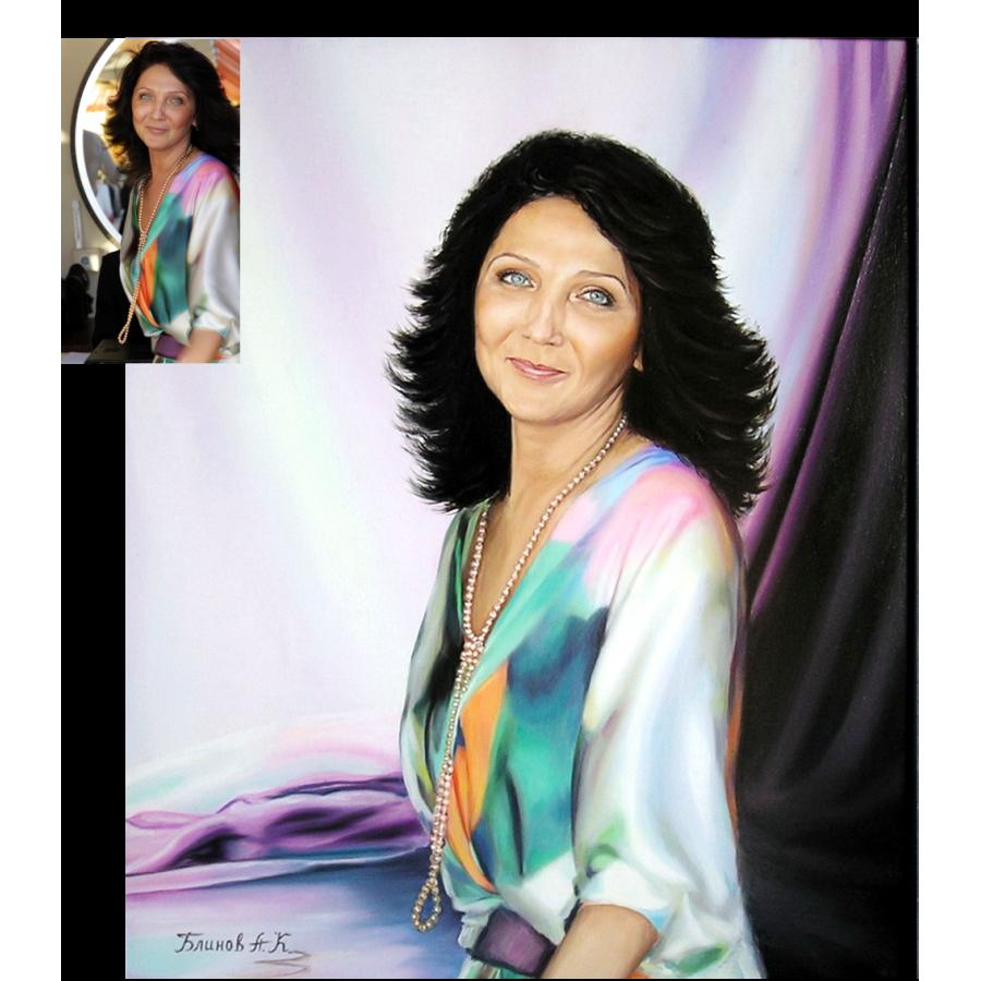 Женский портрет маслом 32