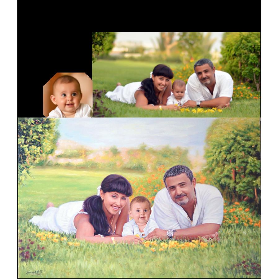 Семейный портрет на природе 50