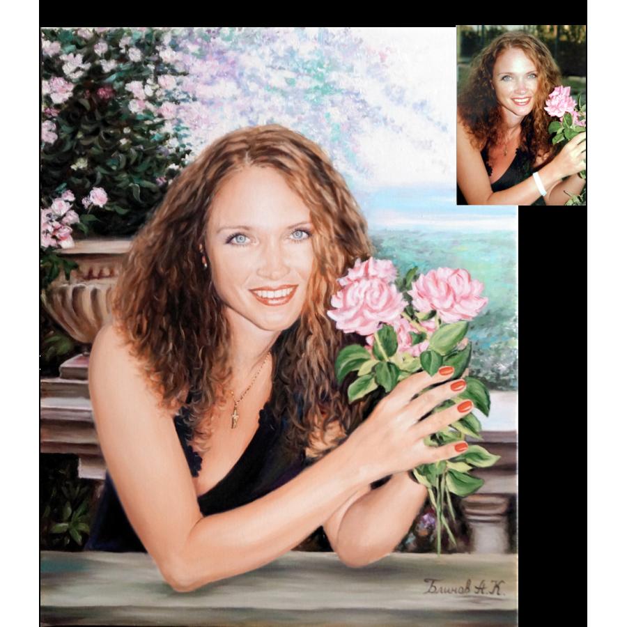Женский портрет по фото 56