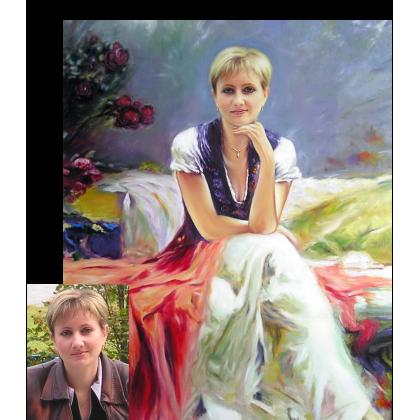 Портрет Алёны маслом