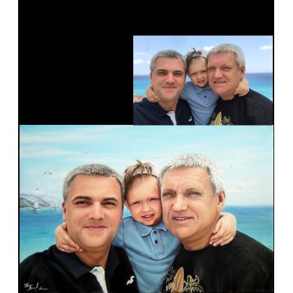 Портрет отца сына и внука.