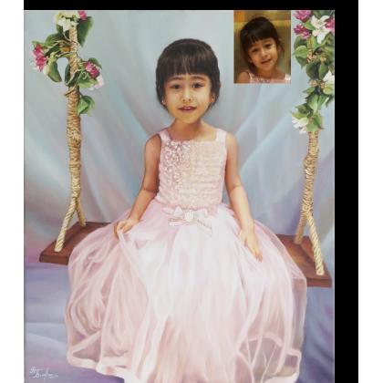 Портрет девочки на качелях 76