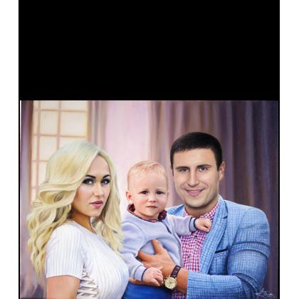 Семейный портрет маслом 77