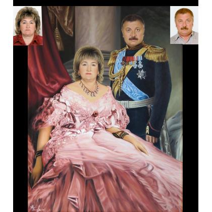 Семейный портрет в историческом стиле 79
