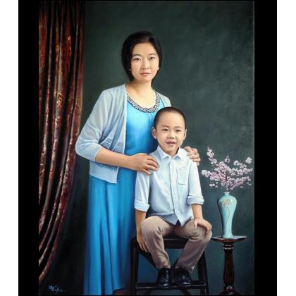Портрет женщины с сыном
