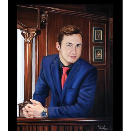 Мужской портрет маслом 84
