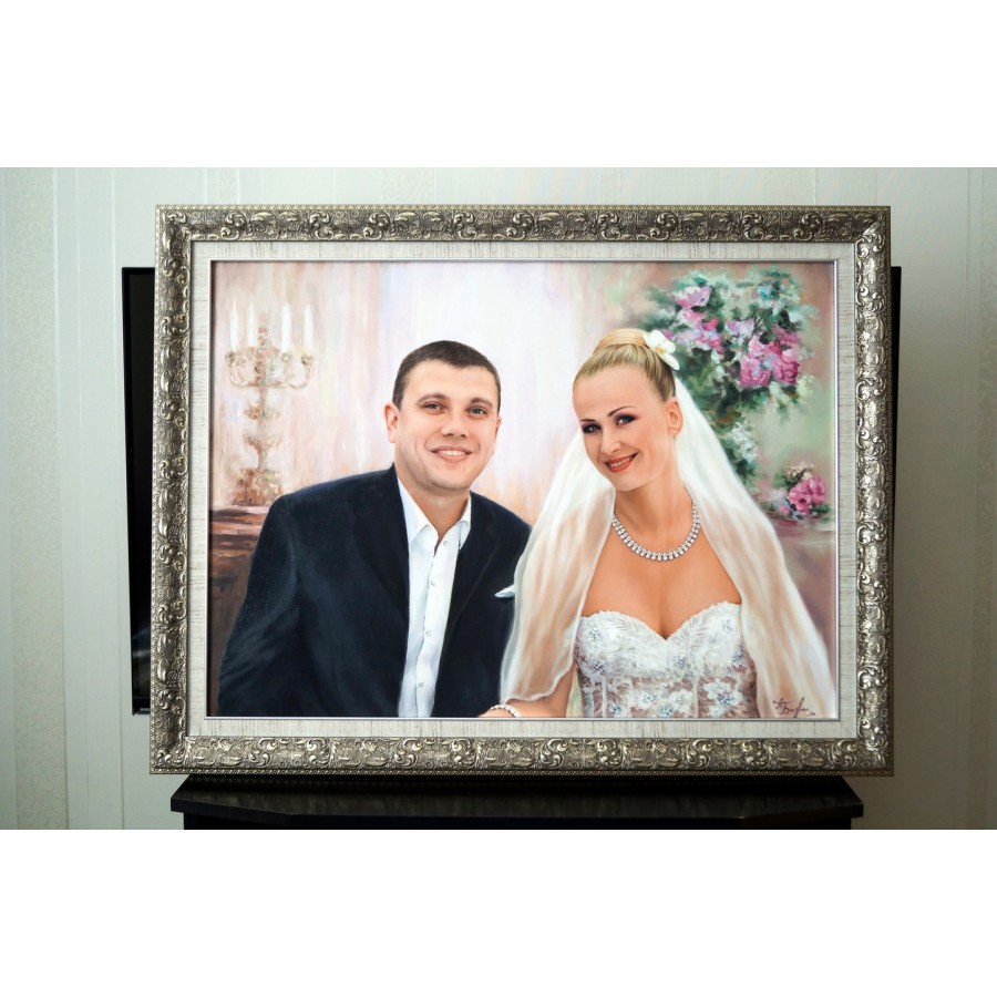 Свадебный портрет маслом 66